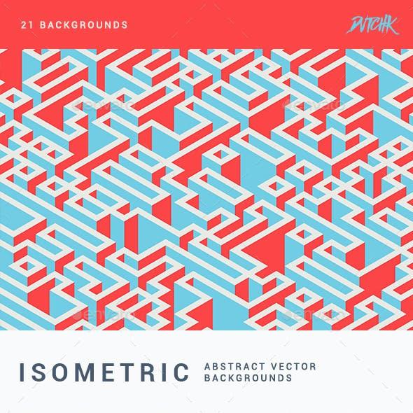 Isometric Vector Backgrounds