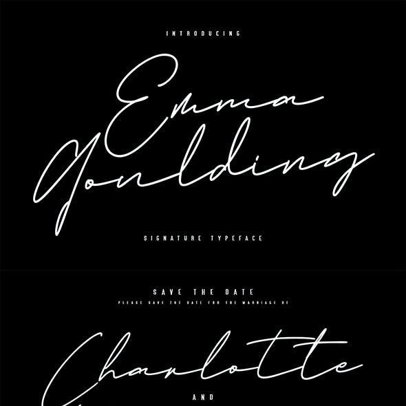 Emma Goulding Signature Collection Script Font