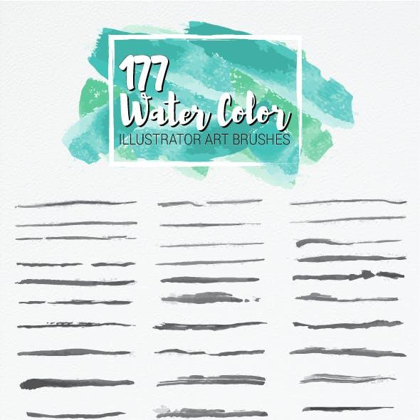 177 Watercolor Art Brushes - Bundle