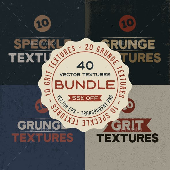 Vintage Vector Textures Bundle
