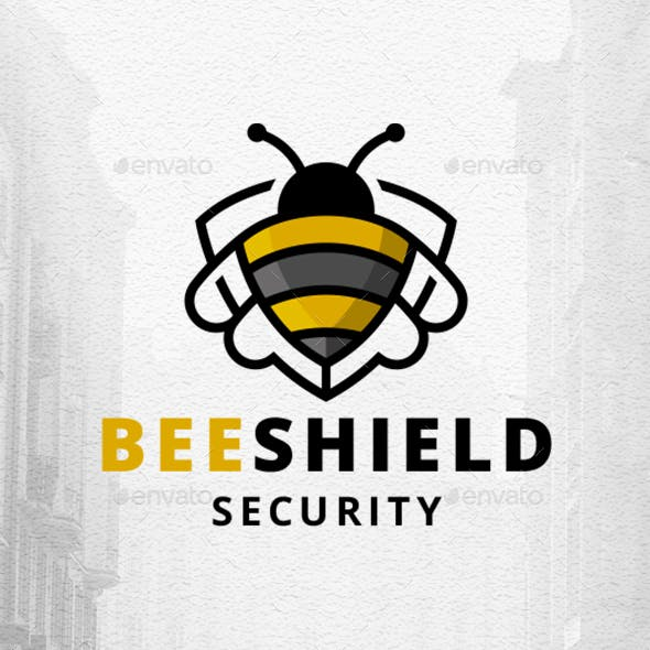 Bee Shield Logo Template