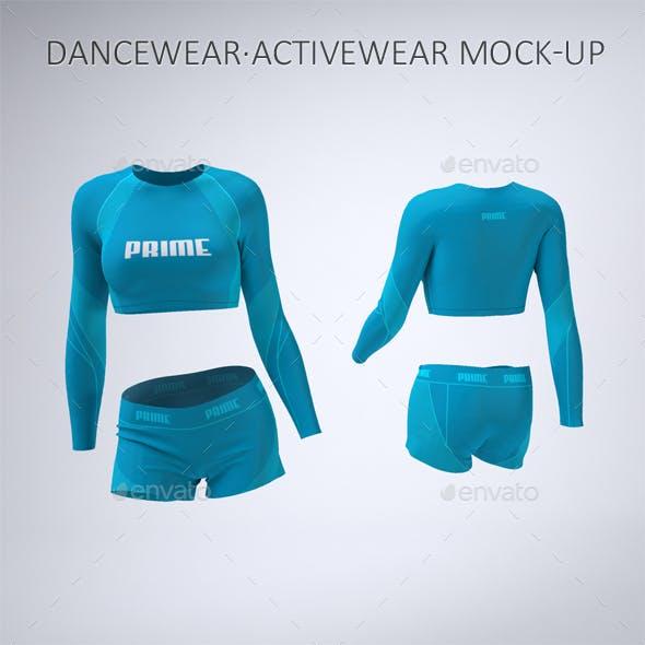 Dancewear or Activewear Mock-Up