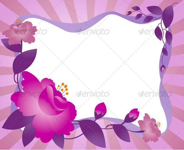 Framework, flower - Backgrounds Business