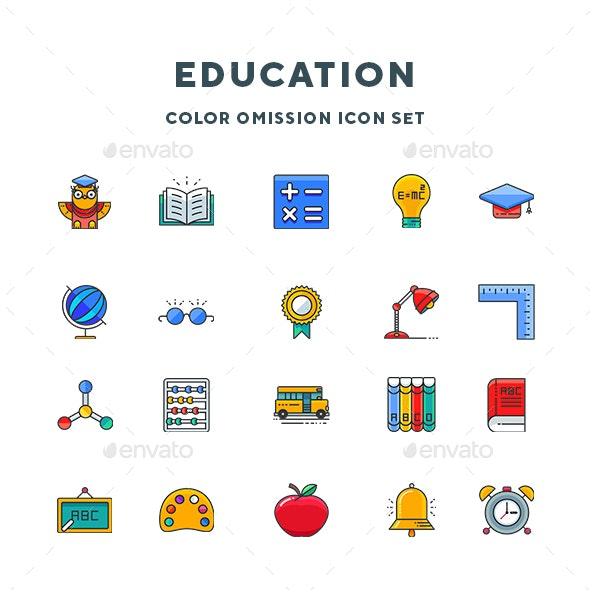 Education Icons - Food Objects