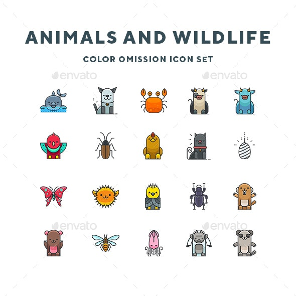 Animals and Wildlife Icons - Animals Characters