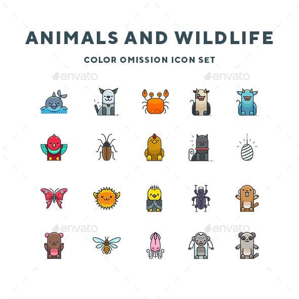 Animals and Wildlife Icons