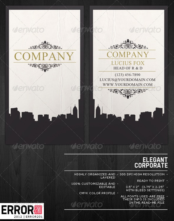 Elegant Business Card Cityscape  - Creative Business Cards