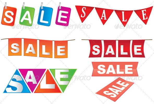 Sale Tags Design Set - Seasons/Holidays Conceptual