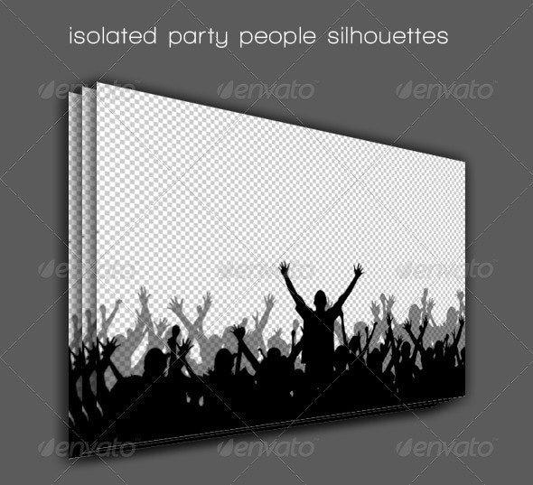 Party People Silhouettes - People Characters
