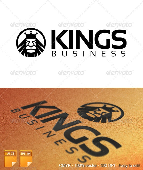 Kings Business Logo - Animals Logo Templates