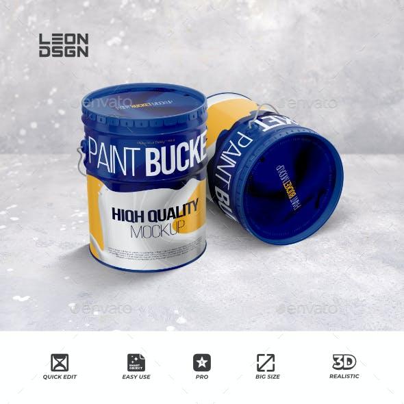 Paint Bucket Tin Mockup