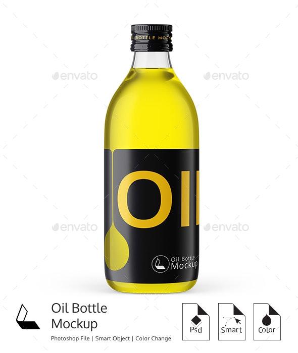 **Oil Bottle  Mockup** - Product Mock-Ups Graphics