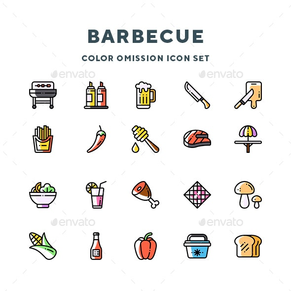 Barbecue Icons - Food Objects