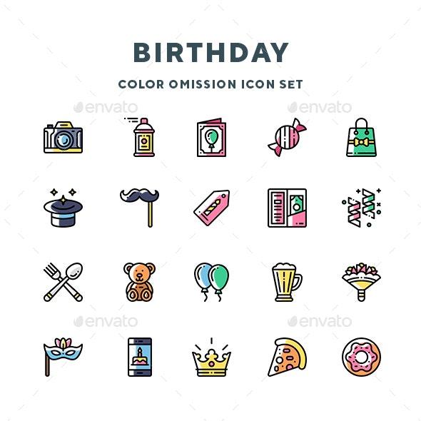 Birthday Icons - Miscellaneous Icons