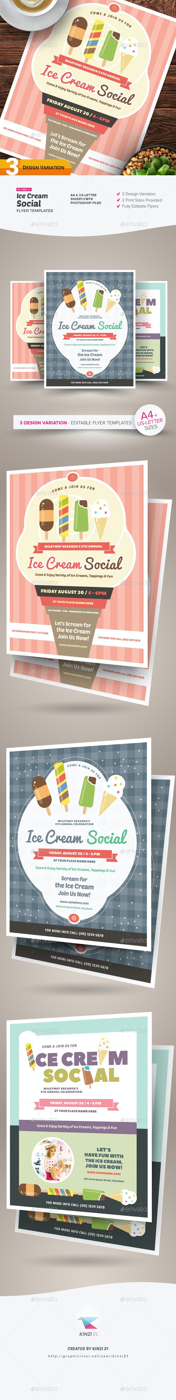 Ice Cream Social Flyer Templates - Miscellaneous Events