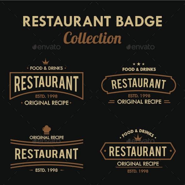 Restaurant Badge Collection