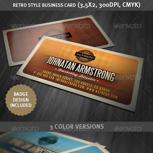 Retro Style Business Card 2