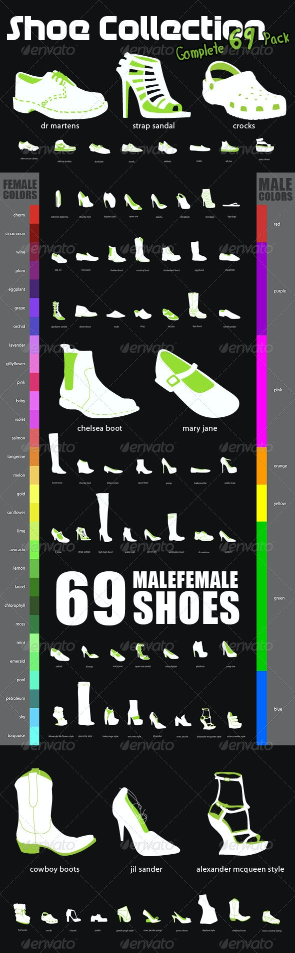 Shoe Collection - Man-made Objects Objects