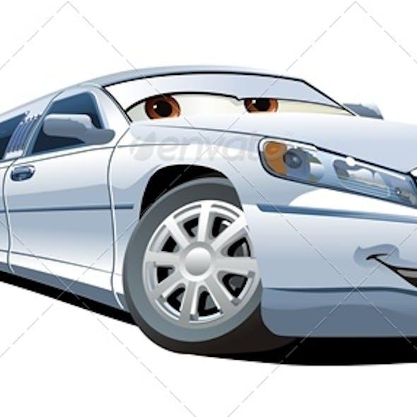 Vector Cartoon Limousine