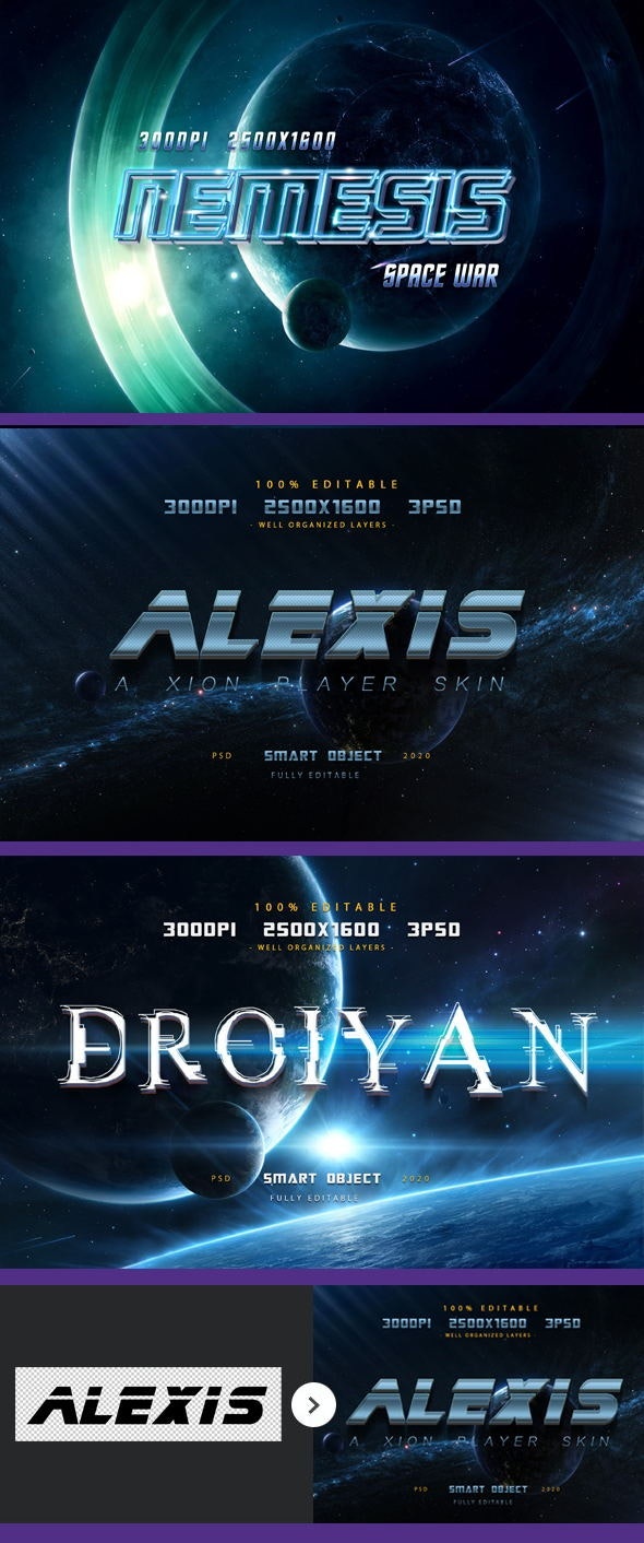 Sci-fi Game Styles - Space Trip Text Effects-Planet Photoshop Text Effects - Text Effects Styles