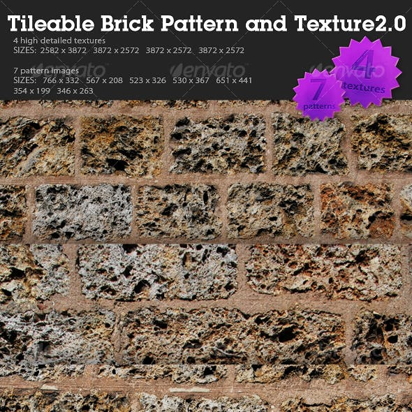 Tileable Brick Pattern and Texture 2.0