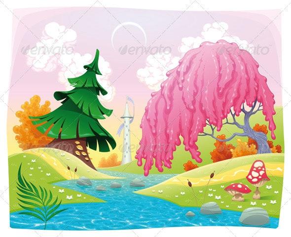 Fantasy landscape on the riverside. - Landscapes Nature