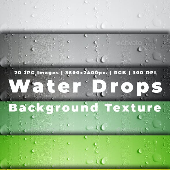 Water Drops Background Texture in Colorful Variations