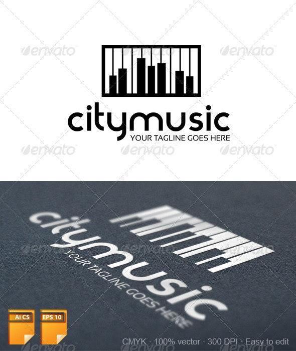 City Music Logo - Objects Logo Templates