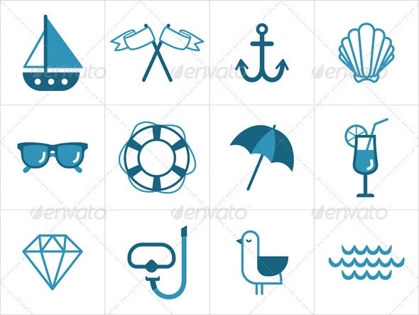 Summer Sea Icons - Icons