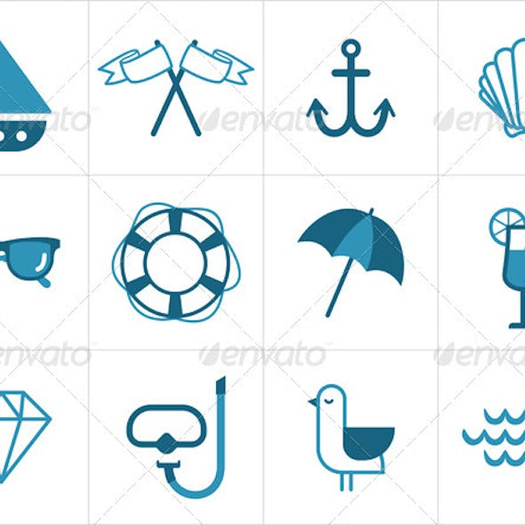 Summer Sea Icons