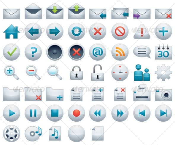Icon set for web and apps - Web Icons