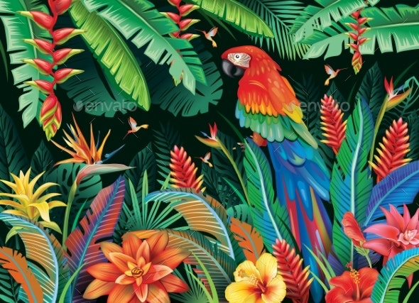 Tropical Background From Flowers Leaves By Wikki33 Graphicriver See more ideas about tropical background, background, tropical. https graphicriver net item tropical background from flowers leaves 27502351