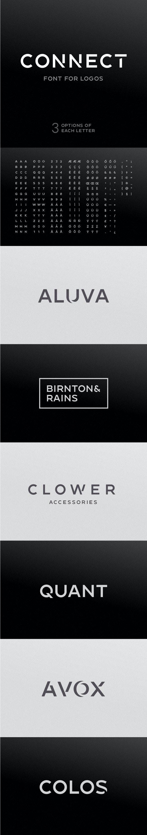 Connect - Font For Logos - Sans-Serif Fonts