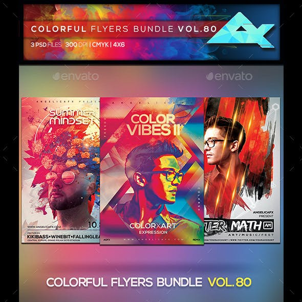 Colorful Flyers Bundle Vol. 80