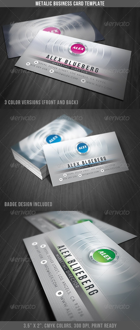 Metalic Business Card - Creative Business Cards