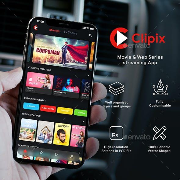 Movie, TV show & Web Series Streaming App UI Kit | Clipix