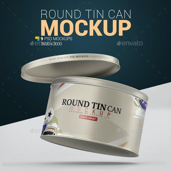 Round Tin Can Mockup