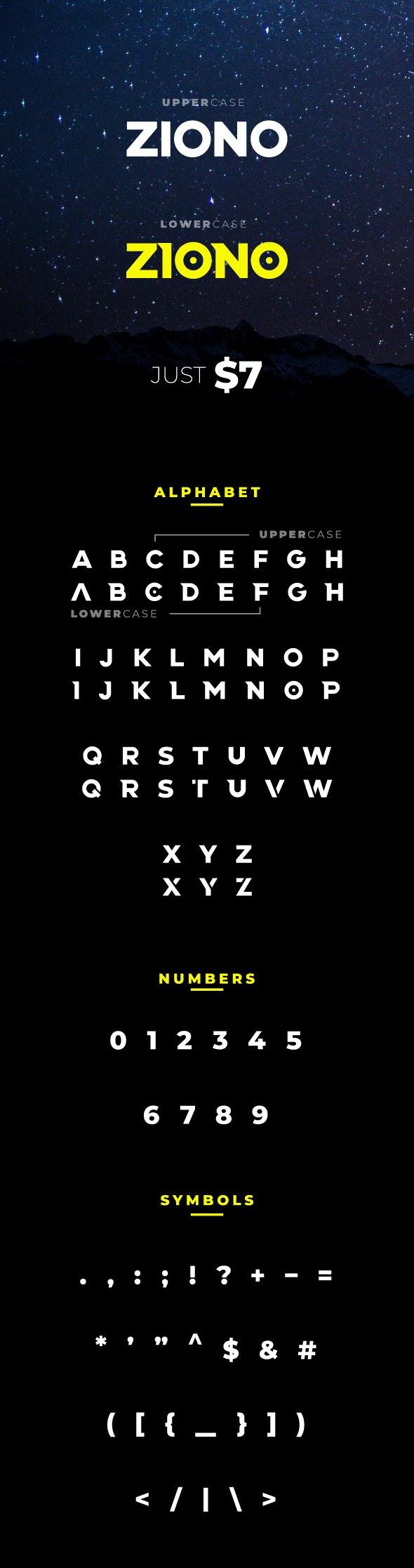 Ziono - Sans-Serif Fonts