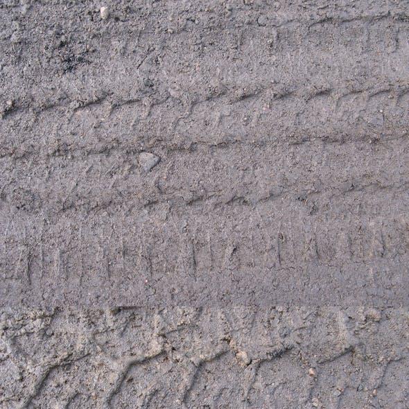 Muddy Tire Tracks Texture