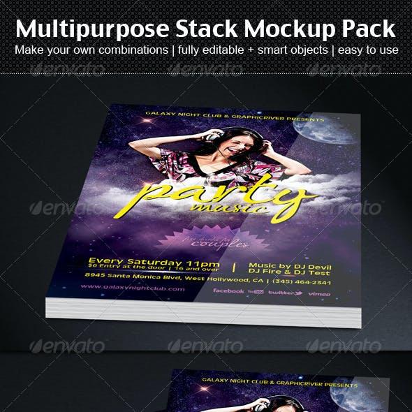 Multipurpose Stack Mockup Pack