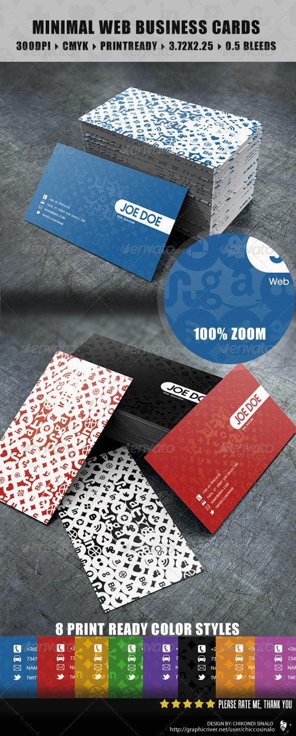 Minimal Web Business Card - Creative Business Cards