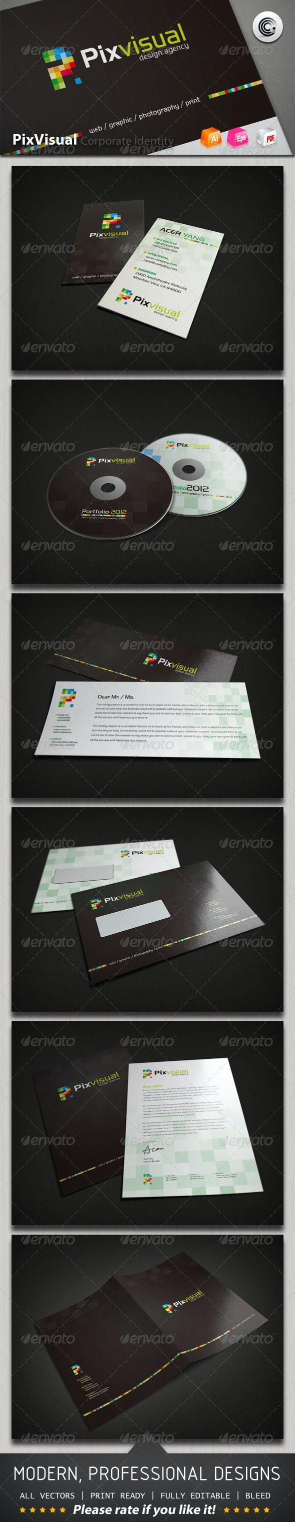 Pix Visual Design Agency Corporate Identity - Stationery Print Templates