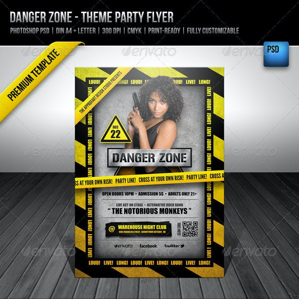 Danger Zone - Theme Party Flyer