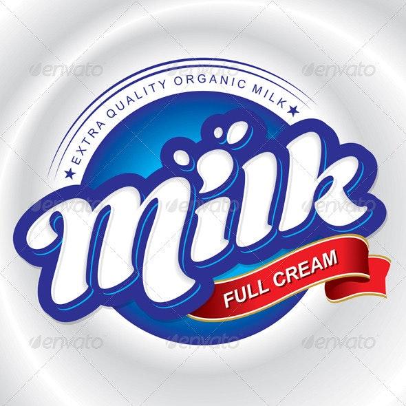 Milk Packaging Design - Decorative Vectors