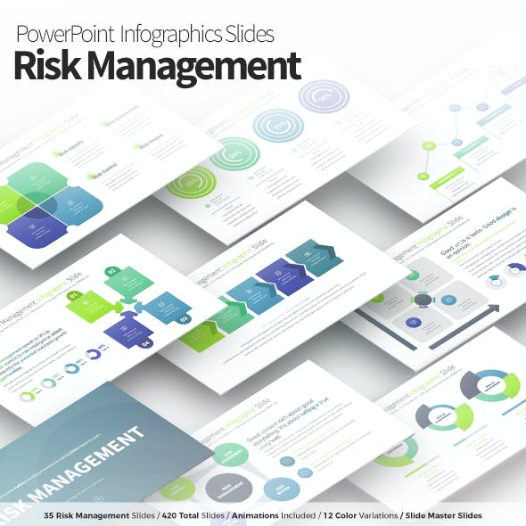 Risk Management - PowerPoint Infographics Slides