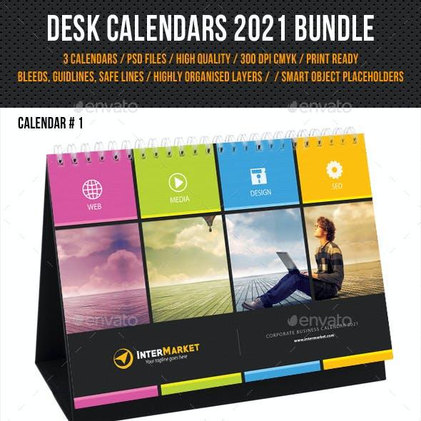 Corporate Desk Calendar 2021 Bundle