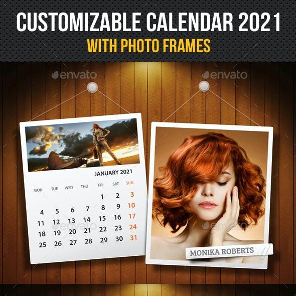 Customizable Calendar 2021 Photo Frame V07
