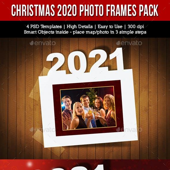 Christmas Holidays 2021 Photo Frames Pack