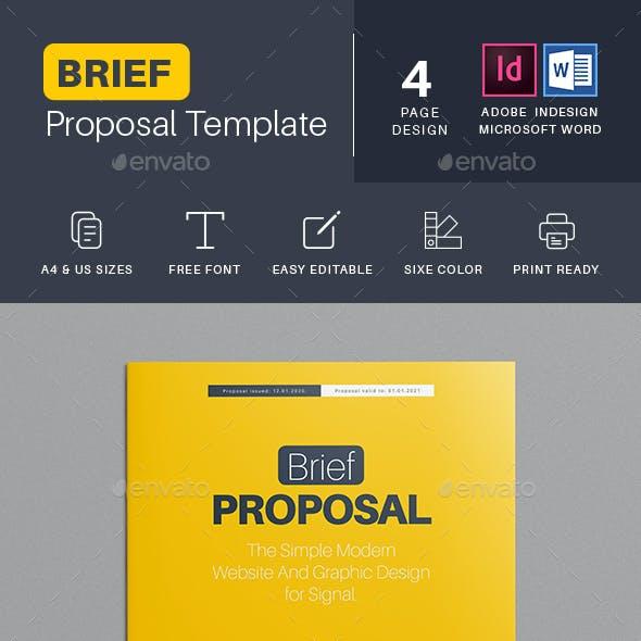 Brief Proposal Templates