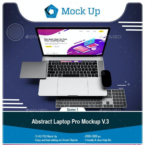 Abstract Laptop Pro Mockup V.3